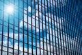 Closeup  Building Glass Of Sky...