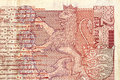 Closeup bulgarian two lev banknote fragment money macro Royalty Free Stock Photos