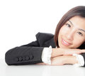 Closeup of business woman attractive smile face Stock Images