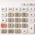 Closeup of calculator keypad Royalty Free Stock Photo