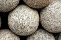 Closeup of canon balls showing granite texture Royalty Free Stock Photography