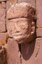 Closeup of carved stone tenon-head Stock Photos