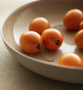 Closeup of cherry tomatoes in cropped bowl Stock Photo