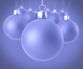 Closeup christmas balls of on a homogeneous background Royalty Free Stock Image