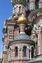 Closeup of the church of the saviour on spilled blood in saint petersburg russia Royalty Free Stock Images