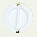 Closeup circle door exit box saving white of cat coin Stock Image