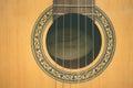 Closeup classic guitar Royalty Free Stock Photo