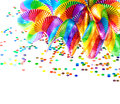 Closeup of colorful garlands and confetti Royalty Free Stock Photography
