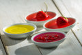 Closeup of colorful jelly with berry fruits Stock Image