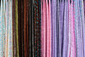 Closeup colorful pashmina scarves market Royalty Free Stock Image