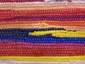 A Colorful Traditional Handmade Etno Rug Carpet Royalty Free Stock Photo