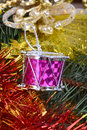 Closeup on colourful Christmas decorations Royalty Free Stock Photo