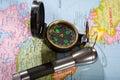 Closeup compass Royalty Free Stock Photography