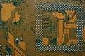 Closeup of computer main board