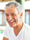Closeup of confident mature man smiling Royalty Free Stock Photography