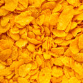 Closeup of corn flakes breakfast morning meal as food background many diet and healthy nutrition square format Royalty Free Stock Photo