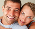 Closeup of couple enjoying with eachother Royalty Free Stock Photos