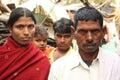 Closeup of a couple of urban slum india family Royalty Free Stock Photo