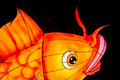 Closeup of coy fish lantern Royalty Free Stock Photo