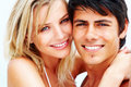 Closeup of a cute young woman with her boyfriend Stock Photography