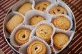 Closeup danish butter cookies box Stock Image