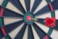 Closeup of a dartboard bullseye Royalty Free Stock Photo