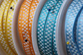 Closeup of decorative ribbons Royalty Free Stock Images