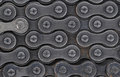 Closeup detail of a Bicycle Chain Royalty Free Stock Photo