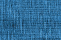 Closeup detail of blue jeans fabric background Royalty Free Stock Photo