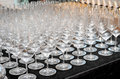 Closeup empty wine glass Royalty Free Stock Photo