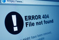 Closeup error sign internet browser lcd screen Stock Photo