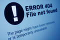 Closeup of error sign in internet browser on lcd screen Royalty Free Stock Photo