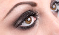 Closeup of eye makeup Royalty Free Stock Photo