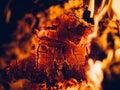 Closeup of fire