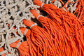 Closeup of fishing nets in a Dutch fishing port Royalty Free Stock Photography