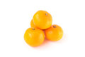 Closeup flesh orange fruit on white background, fruit for health Royalty Free Stock Photo