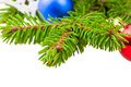 Closeup of fluffy needles Christmas tree Royalty Free Stock Photo