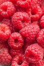 Closeup of fresh and tasty raspberries Stock Photo