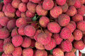 Closeup of freshly produced bunch ripe and delicious lychee fruits Royalty Free Stock Image
