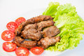 Closeup of fried spare ribs Stock Image
