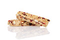 Closeup fruit granola bars with reflection Stock Image