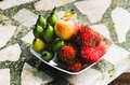 Closeup of Fruit offering sacred and Shrine Royalty Free Stock Photo