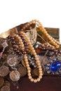 Closeup of full treasure chest Royalty Free Stock Photo