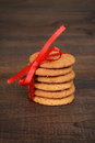 Closeup ginger snap cookies Royalty Free Stock Photo