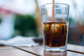 Glass of coke with ice Royalty Free Stock Photo