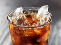 Closeup of glass of cola with ice Royalty Free Stock Photography