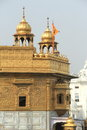 Closeup of golden temple the sikh in amritsar Stock Photo