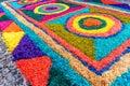 Closeup of Good Friday carpet, Antigua, Guatemala