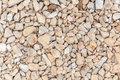 Closeup of gravel stones background or texture Stock Photo