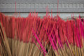 Closeup of group of unused incense sticks at a buddhist temple in taiwan Stock Photos
